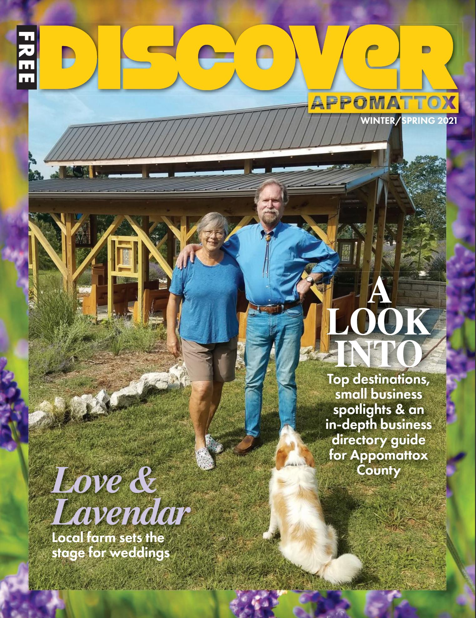 Discover Appomattox Magazine features Evergreen Lavender on the Cover of Winter/Spring 2021 Issue